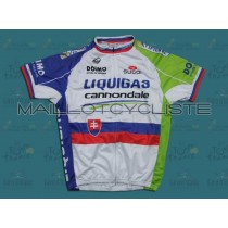 2011 Liquigas Slovakia Champion Maillot Cyclisme manches courtes