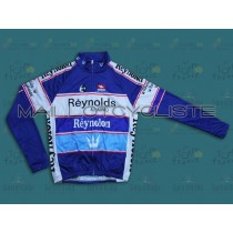 Reynolds Reynolon throwback bleu Maillot thermique manches loungues